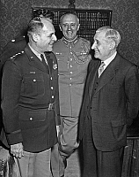 0162172 © Granger - Historical Picture ArchiveWALTERS.   general Matthew B. Ridgway, colonel Viera da Fonseca, portuguese prime minister Antonio de Oliveira Salazar during meeting in Lisboa, november 12, 1952. Full credit: AGIP - Rue des Archives / Granger, NYC -- All rights reserved.