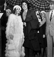 0162182 © Granger - Historical Picture ArchiveWARREN BEATTY AND FAYE DURAWAY.   On january 24, 1968, Warren Beatty and Faye Duraway at Moulin Rouge, Paris, for premiere of Bonnie and Clyde. Full credit: AGIP - Rue des Archives / Granger, NYC -- All rights reserved.