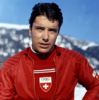 0162234 © Granger - Historical Picture ArchiveWILLY FAVRE.   swiss team skier Willy Favre january 14, 1966. Full credit: AGIP - Rue des Archives / Granger, NYC -- All Rights Reserved.
