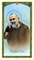 0163458 © Granger - Historical Picture ArchiveSAINT PIO OF PIETRELCINA   (1887-1968). Born Francesco Forgione. Italian Capuchin priest and missionary, canonized by the Catholic Church in 2002. Lithograph, mid 20th century.