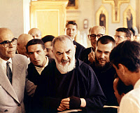 0163465 © Granger - Historical Picture ArchiveSAINT PIO OF PIETRELCINA   (1887-1968). Born Francesco Forgione. Italian Capuchin priest and missionary, canonized by the Catholic Church in 2002. Photograph, September 1963.