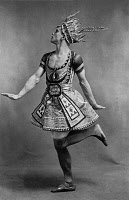 0168773 © Granger - Historical Picture ArchiveVASLAV NIJINSKY (1890-1950).   Russian ballet dancer and choreographer. Photographed during the ballet, 'Blue Gold,' in Paris, 1912.