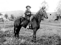 0169016 © Granger - Historical Picture ArchiveTHEODORE ROOSEVELT   (1858-1919). 26th President of the United States. Photographed on horseback as a boy, c1870.