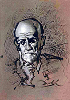 0173559 © Granger - Historical Picture ArchiveSIGMUND FREUD (1856-1939).   Austrian psychoanalyst Sigmund Freud, drawn by Salvador Dalí, 1938. EDITORIAL USE ONLY.