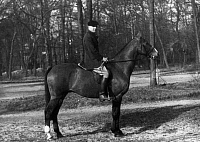 0173656 © Granger - Historical Picture ArchiveJEAN FAVREAU (1919-1993).   French psychoanalyst, riding a horse. Full credit: Bourgeron - Rue des Archives / Granger, NYC -- All Rights Reserved.