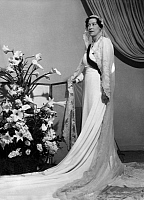 0173833 © Granger - Historical Picture ArchivePRINCESS EUGÉNIE OF GREECE.   Princess Eugénie of Greece during a fitting for her wedding dress on May 28, 1938. Full credit: Bourgeron - Rue des Archives / Granger, NYC -- All rig