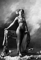 0173892 © Granger - Historical Picture ArchiveMATA HARI (1876-1917).   Stage name of Gertrud Margaret Zelle, Dutch dancer and spy. She's wearing a bra by Cadolle. Full credit: Bourgeron - Rue des Archives / Granger, NYC -- All Rights Reserved.
