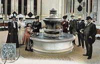 0174016 © Granger - Historical Picture ArchiveFRANCE: VITTEL, c1907.   A salted spring fountain at Vittel, France. Postcard, c1907. Full credit: Bourgeron - Rue des Archives / Granger, NYC -- All rights reserved.