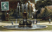 0174036 © Granger - Historical Picture ArchiveFRANCE: CHAUMONT.   View of the fountain in Chaumont Square. Postcard, c1903. Full credit: Bourgeron - Rue des Archives / Granger, NYC -- All rights reserved.