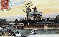 0174142 © Granger - Historical Picture ArchivePARIS: NOTRE DAME.   Postcard, 1913. Full credit: Bourgeron - Rue des Archives / Granger, NYC -- All rights reserved.