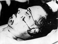0174225 © Granger - Historical Picture ArchiveJOHN DILLINGER (1903-1934).   American bank robber. Photographed after being fatally shot by F.B.I. agents in Chicago, Illinois, 22 July 1934.
