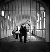 0176405 © Granger - Historical Picture ArchiveFRESNES PRISON, c1945.   Interior view of Fresnes Prison in France. Photograph, c1945. Full credit: Rene Saint Paul - Rue des Archives / Granger, NYC -- All rights reserved.
