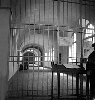 0176407 © Granger - Historical Picture ArchiveFRESNES PRISON, c1945.   Interior view of Fresnes Prison in France. Photograph, c1945. Full credit: Rene Saint Paul - Rue des Archives / Granger, NYC -- All rights reserved.