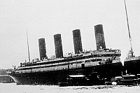 0176540 © Granger - Historical Picture ArchiveTITANIC: SOUTHAMPTON, 1912.   The RMS Titanic leaving the harbor of Southampton, England, for New York. Photograph, 10 April 1912. Full credit: FIA - Rue des Archives / Granger, NYC -- All Rights Reserved.