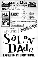 0259985 © Granger - Historical Picture ArchiveSALON DADA, 1921.   A poster for 'Salon Dada' at the Galerie Montaigne in Paris, France, June 1921. Full credit: Tal - Rue des Archives / Granger, NYC -- All rights reserved.