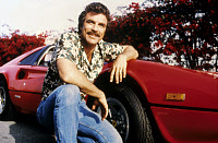 0260716 © Granger - Historical Picture ArchiveTV: MAGNUM, P.I.   Actor Tom Selleck in the television show 'Magnum, P.I.' Photograph, c1985.