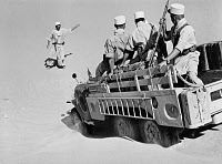 0268959 © Granger - Historical Picture ArchiveALGERIAN WAR, 1958.   French Foreign Legionnaires in the desert during the Algerian War of Independence. Photograph, September 1958.