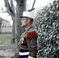 0268998 © Granger - Historical Picture ArchiveFRENCH FOREIGN LEGION, 1973.   Legionnaire of the 1st French Foreign Legion in Orange, France. Photograph, 1973. Full credit: Tal - Rue des Archives / Granger, NYC -- All rights re