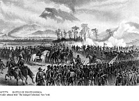 0072770 © Granger - Historical Picture ArchiveBATTLE OF CHATTANOOGA.   Battle of Chattanooga (November 23-25, 1863). Confederates troops, under B. Bragg, surround Union troops, under Rosecrans. Battle above the clouds: Reserves are being led to battle. Contemporary engraving.