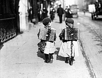 0072945 © Granger - Historical Picture ArchiveCHILDREN GOING TO SCHOOL.  First graders on their way to school in Berlin, Germany, 1910.