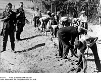0072995 © Granger - Historical Picture ArchiveWWII: JEWISH LABOUR CAMP.   German soldiers guarding Jews forced to work in Nazi labor camps. Photograph.