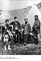 0073132 © Granger - Historical Picture ArchiveCRIMEAN WAR: HIGHLANDERS, 1855. Officers of the 42nd Highlanders. Photograph by Roger Fenton, 1855. Full Credit: Ullstein Bild / Granger, NYC. All Rights Reserved.