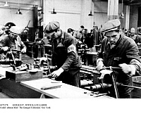 0073278 © Granger - Historical Picture ArchiveWORLD WAR II: FORCED LABOR.   Foreign workers from the East (called Ostarbeiter) in an armaments factory in South Germany.