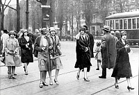 0073296 © Granger - Historical Picture ArchiveGERMANY, 1926.   Street scene, 1926. Picture taken by Alex Stoecker.
