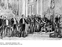 0073318 © Granger - Historical Picture ArchiveFRANKFURT ASSEMBLY, 1848.   The Paulskirche delegation under Eduard Simson (president of the national assembly) before king Friedrich Wilhelm IV in the knight's hall at the Berlin Palace: Futile offer of the emperor's crown, 3 April 1849.