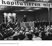 0073470 © Granger - Historical Picture ArchiveWILHELM FURTWÄNGLER (1886-1954). Wilhelm Furtwängler conducting a concert during a recreational break at the engeneering works R. Stock & Co. in Marienfelde, Berlin. Photograph, 21st December 1939.
