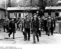 0073487 © Granger - Historical Picture ArchiveWWII: WORKERS, 1942.   Workers from German-occupied Eastern territories return to their camps after the end of work, 1942.