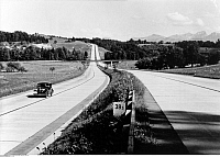 0079696 © Granger - Historical Picture ArchiveGERMANY: AUTOBAHN.   A stretch of the autobahn between Munich and Salzburg.