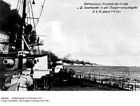 0082684 © Granger - Historical Picture ArchiveWORLD WAR I: JUTLAND, 1916.   The Battle of Jutland, off the coast of East Frisia, 31 May 1916.