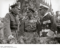 0083059 © Granger - Historical Picture ArchiveGERMAN OFFICERS, 1936.   From left: General Field Marshall Werner von Blomberg, General Werner von Fritsch, and Admiral Erich von Raeder. Photographed in Germany, 13 September 1936.