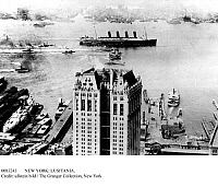0083243 © Granger - Historical Picture ArchiveNEW YORK: LUSITANIA.   The Cunard steamship 'Lusitania' photographed in New York Harbor, 13 September 1907.
