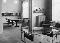 0084052 © Granger - Historical Picture ArchiveERWIN PISCATOR (1893-1966).   German theatrical director and producer. Piscator's apartment in Germany, with furniture designed by Marcel Breuer.