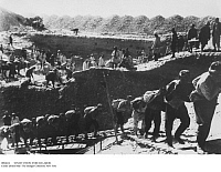 0084624 © Granger - Historical Picture ArchiveSOVIET UNION: FORCED LABOR.   Forced laborers constructing the Fergana Canal in Uzbekistan, 1939.