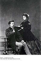 0085741 © Granger - Historical Picture ArchiveLUDWIG II (1845-1886).   King of Bavaria, 1864-1886. Photographed, 1867, with his cousin, Princess Sophie, to whom he was engaged at the time.
