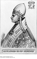 0085799 © Granger - Historical Picture ArchivePOPE ALEXANDER (c1105-1181). Pope, 1159-1181. Lithograph, 19th century.