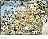 0085831 © Granger - Historical Picture ArchiveJAPAN: NAGASAKI HARBOR.   A Japanese print, c1800, based on a 17th century Japanese map of the port of Nagasaki showing Dutch and Chinese ships in the harbor.