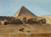 0085908 © Granger - Historical Picture ArchiveCHEOPS PYRAMID, 1842.   The great pyramid of Cheops (Khufu) at Giza, Egypt. Lithograph, French, by Noel Paymal Lerebours, 1842. Full credit: ullstein bild / Granger, NYC -- All rig