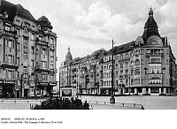 0086101 © Granger - Historical Picture ArchiveBERLIN: SCHOOL, c1905.   Dr. Fackelmann's Higher Preparation School at the corner of Hohenzollerndamm and Emser Platz in the Wilmersdorf section of Berlin. Postcard, c1905.