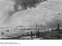 0086370 © Granger - Historical Picture ArchiveGERMANY: NORTH SEA, c1840.   The harbor on the East Frisian Island of Wangerooge, Lower Saxony, Germany. Engraving, c1840, by Albert Henry Payne.