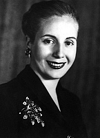 0087360 © Granger - Historical Picture ArchiveEVA PERON (1919-1952).   Maria Eva Duarte de Perón, called Evita. Second wife of Argentine President Juan Domingo Perón (1895–1974) and First Lady of Argentina from 1946 to 1952. Photographed in 1949.
