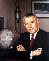 0087444 © Granger - Historical Picture ArchiveWERNHER von BRAUN   (1912-1977). German rocket engineer. Photographed in the 1960s.
