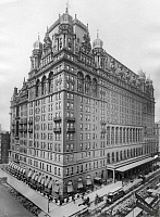 0087839 © Granger - Historical Picture ArchiveNEW YORK: WALDORF-ASTORIA.   The Waldorf-Astoria Hotel, opened on 24 March 1893. Photographed at its original location on Fifth Avenue at 33rd Street, New York, 1907.