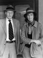 0087883 © Granger - Historical Picture ArchiveBURROUGHS & SONTAG, 1976.   American writer, William Burroughs and Susan Sontag, American essayist and novelist photographed in Berlin, Germany, 1976. Full credit: Will - ullstein bild / Granger, NYC -- All rights reserved.