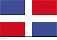 0089353 © Granger - Historical Picture ArchiveDOMINICAN FLAG.   Flag of the Dominican Republic. Full credit: Schöning - ullstein bild / Granger, NYC -- All rights res