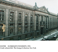 0103988 © Granger - Historical Picture ArchiveHUMBOLDT UNIVERSITY, 1995.   Humboldt University of Berlin (formerly University of Berlin and Frederick William University), Unter den Linden, Berlin, Germany. Photographed 1995.