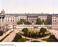 0104003 © Granger - Historical Picture ArchiveHUMBOLDT UNIVERSITY, c1900.   Humboldt University of Berlin (formerly University of Berlin and Frederick William University), Unter den Linden, Berlin, Germany. Photochrome c1900.